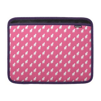 Cute pink white cat pattern MacBook air sleeve