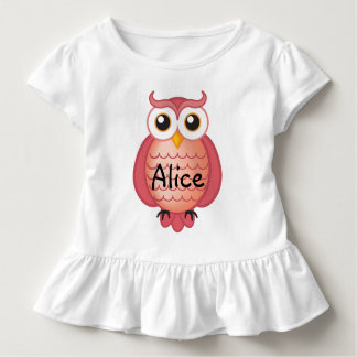 Cute Pink Wise Owl Toddler T-shirt