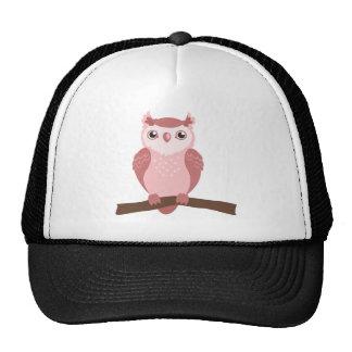 Cute PInk Woodland Owl Trucker Hat