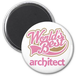 Cute Pink Worlds Best Architect Fridge Magnet
