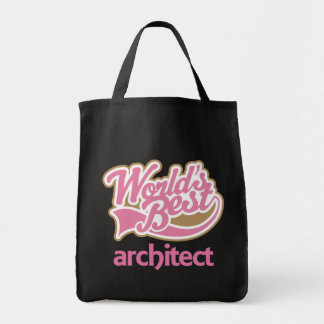 Cute Pink Worlds Best Architect Tote Bag