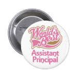 Cute Pink Worlds Best Assistant Principal Pinback Button