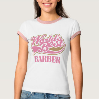 Cute Pink Worlds Best Barber T Shirt