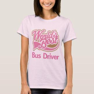 Cute Pink Worlds Best Bus Driver T-Shirt