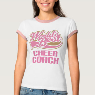 Cute Pink Worlds Best Cheer Coach T Shirt