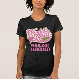 Cute Pink Worlds Best English Teacher T-Shirt