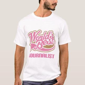 Cute Pink Worlds Best Journalist T-Shirt