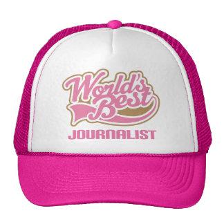 Cute Pink Worlds Best Journalist Trucker Hat