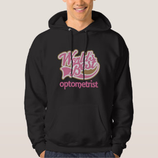Cute Pink Worlds Best Optometrist Hoodie