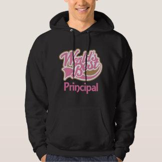 Cute Pink Worlds Best Principal Hoodie