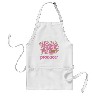 Cute Pink Worlds Best Producer Adult Apron