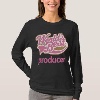 Cute Pink Worlds Best Producer T-Shirt