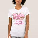 Cute Pink Worlds Best School Counselor T-shirt