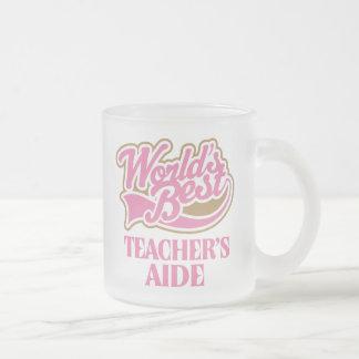 Cute Pink Worlds Best Teachers Aide Coffee Mugs