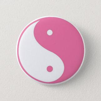 Cute Pink Yin Yang button