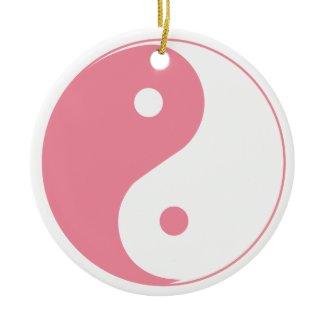 Cute Pink Yin & Yang Ornament ornament