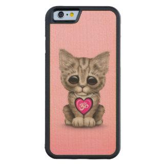 Cute Pink Yoga Love Om Kitten Carved® Maple iPhone 6 Bumper Case
