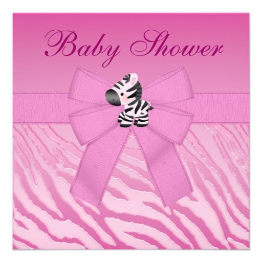 Cute pink zebra flowers animal print baby shower for Pink and zebra bathroom ideas