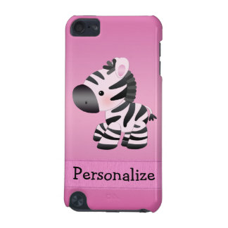 Cute Pink Zebra Personalized iPod Case