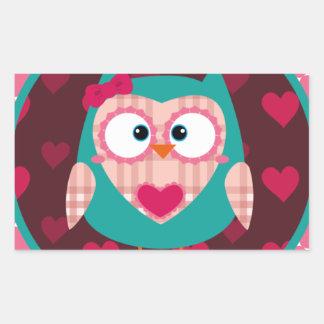 cute Pinky owl Rectangular Sticker