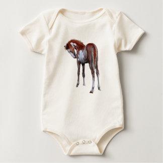 Cute Pinto Pony Horse Animal-lover's Gift Baby Bodysuit