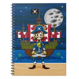 Cute Pirate and Ship Notebook