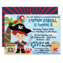 Cute Pirate Birthday Invitations