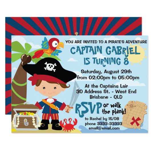 cute pirate birthday invitations zazzle com