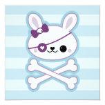 Cute Pirate Bunny Birthday Invite