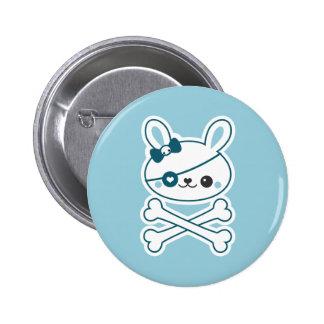 Cute Pirate Bunny Button