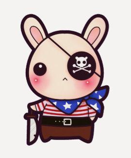 Cute pirate bunny shirt