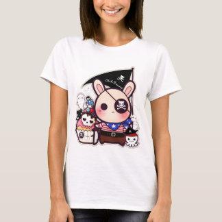 Cute pirate bunny with kawaii skull cupcake T-Shirt
