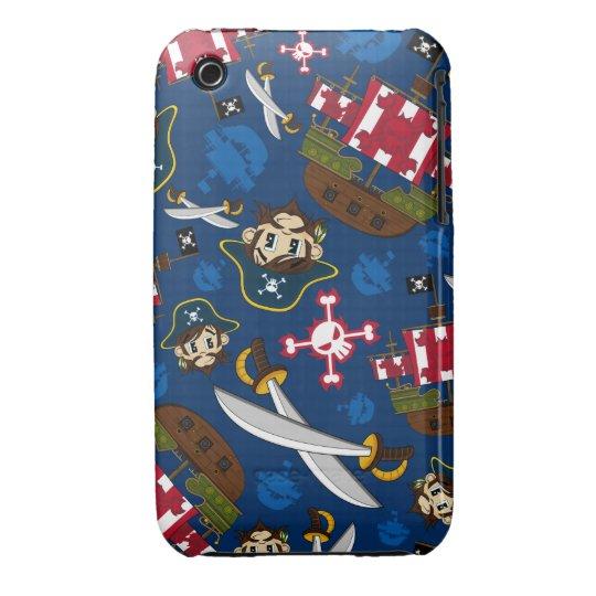 Cute Pirate Captain iphone Case