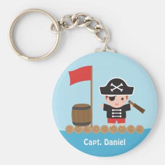 Cute Pirate Captain Ocean Raft Boy Keychain