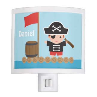 Cute Pirate Captain Ocean Raft Boys Room Decor Nite Lites