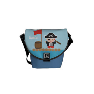 Cute Pirate Captain Ocean Raft For Boys Courier Bag