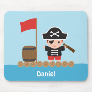 Cute Pirate Captain Ocean Raft For Boys Mouse Pad