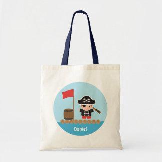 Cute Pirate Captain Ocean Raft For Boys Tote Bag