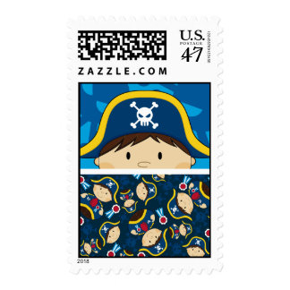 Cute Pirate Captain Stamp