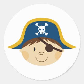 Cute Pirate Captain Sticker Sheet