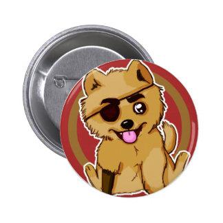 Cute Pirate Dog Pinback Button