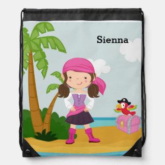 Cute Pirate Drawstring Bag