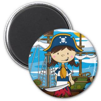 Cute Pirate Girl Magnet