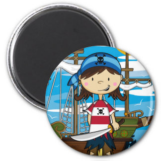 Cute Pirate Girl Magnet Fridge Magnet