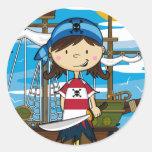 Cute Pirate Girl Sticker Sheet