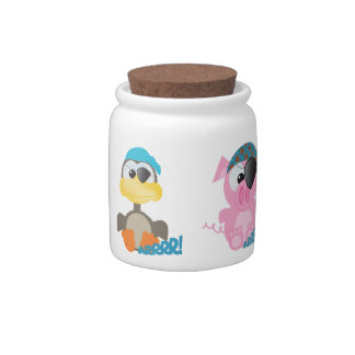 cute pirate goofkins animals candy jars