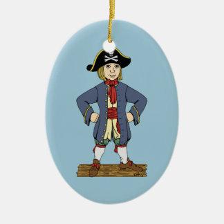 Cute Pirate Lad Ceramic Ornament