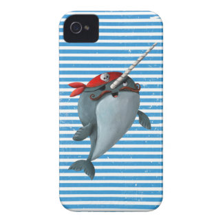 Cute Pirate Narwhal Case-Mate iPhone 4 Cases