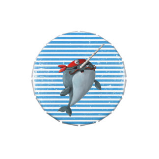 Cute Pirate Narwhal Jelly Belly Candy Tins