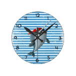 Cute Pirate Narwhal Wall Clocks